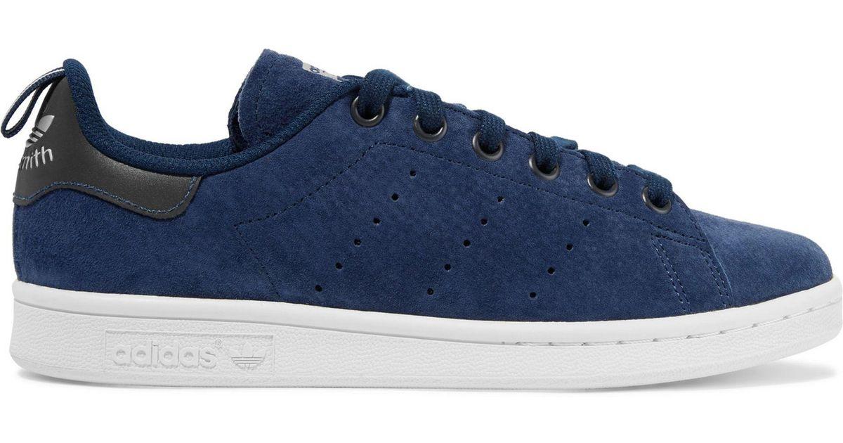44cbf3f33530 Adidas Originals - Blue Stan Smith Suede Sneakers - Lyst