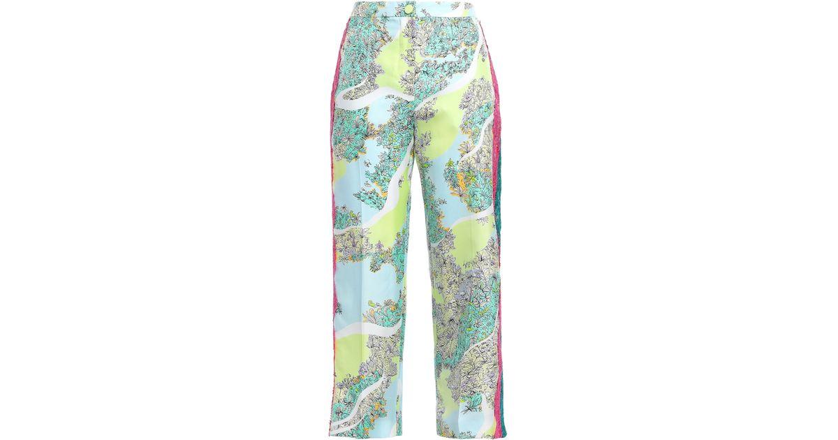 Emilio Pucci wide leg pants with lace