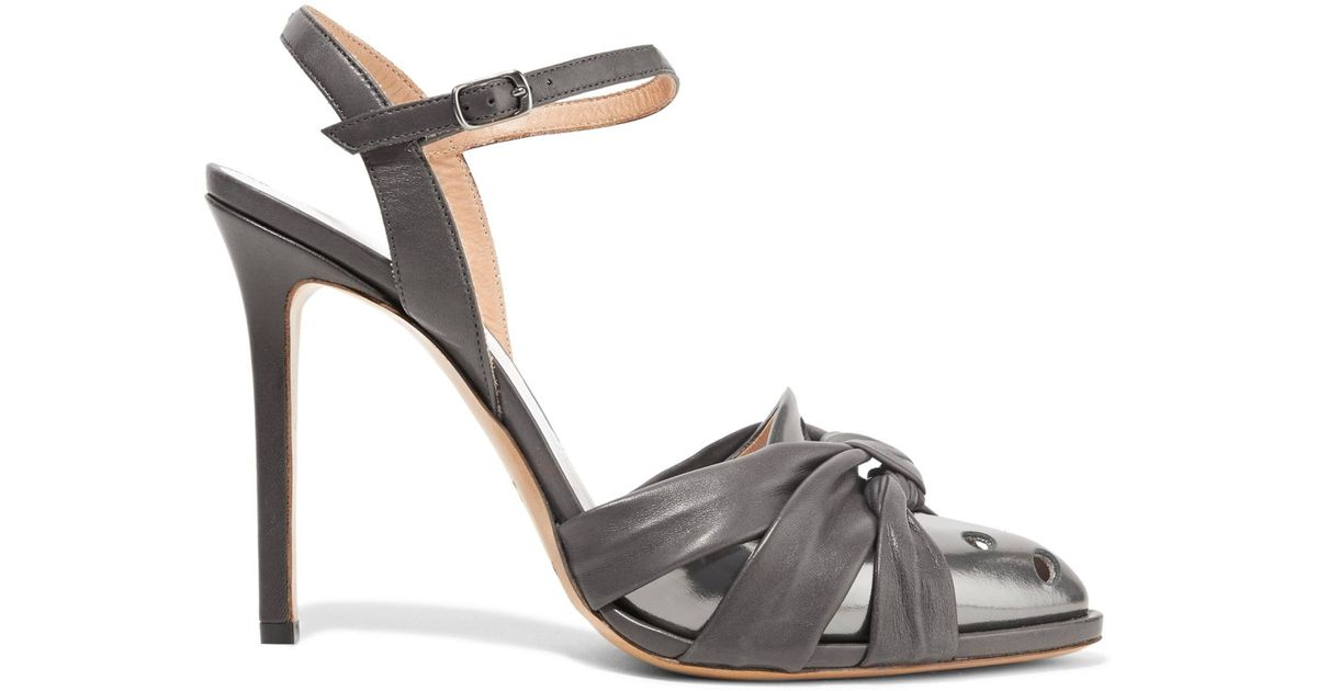 Maison Margiela Leather Knotted Sandals