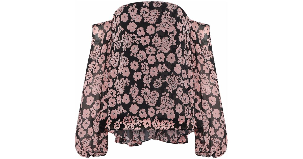 Outlet Store Locations Huge Surprise Cheap Price Milly Woman Gloria Off-the-shoulder Floral-print Georgette Top Blush Size 2 Milly Pick A Best Cheap Price Buy Cheap 2018 dr4jICX1D