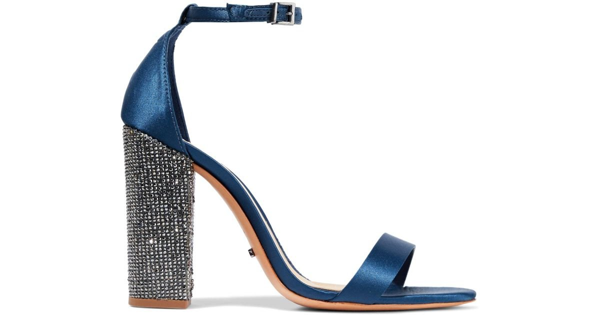 Schutz Hara Crystal Embellished Block Heel Sandal b773oerUu