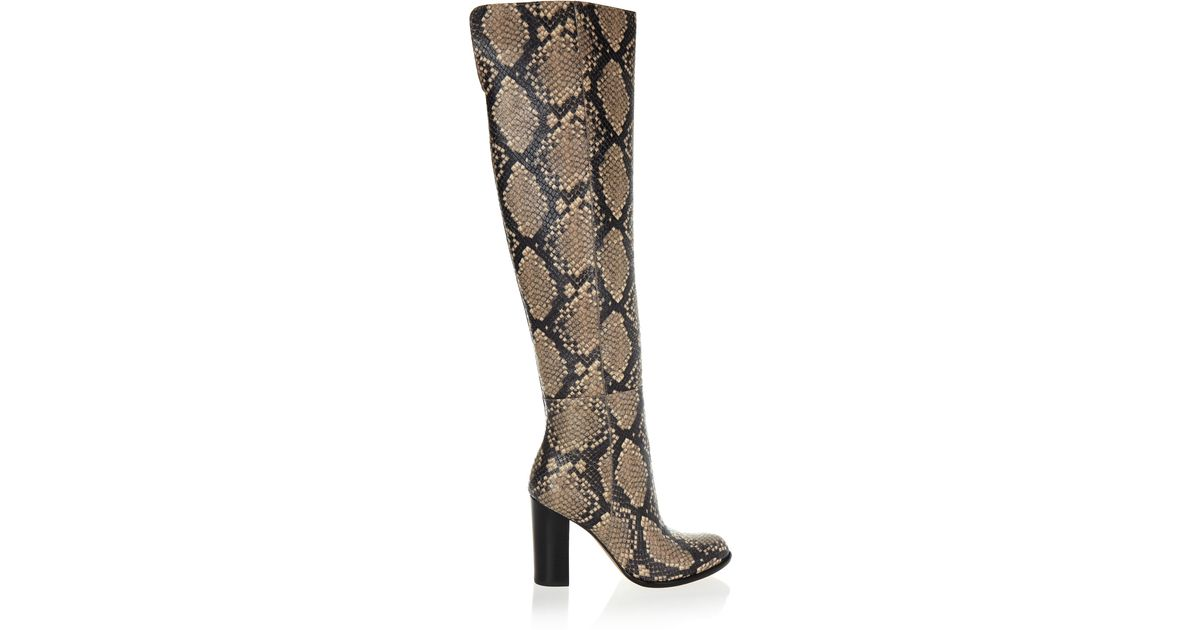 732413d20ae6 Lyst - Sam Edelman Rylan Snake-effect Leather Over-the-knee Boots in Blue