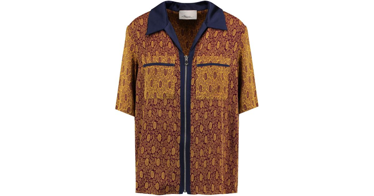 3.1 Phillip Lim Woman Satin-trimmed Jacquard Shirt Brown Size 10 3.1 Phillip Lim Best Place Sale Online Collections Cheap Sale With Credit Card Buy Cheap Low Shipping Fee Cheap Sale Big Discount 5zUcolAbV
