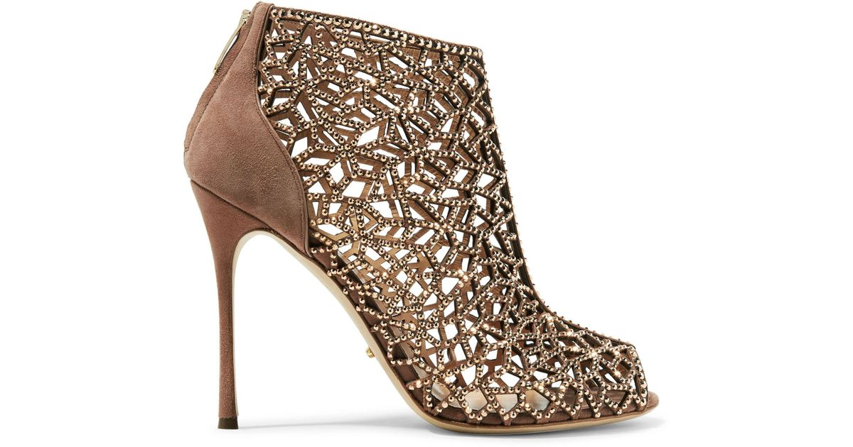 free shipping sale online browse for sale Sergio Rossi SR1 Crystal-Embellished Ankle Boots cheap sale view cheap sale 2014 unisex clearance clearance Rg0x0PAA