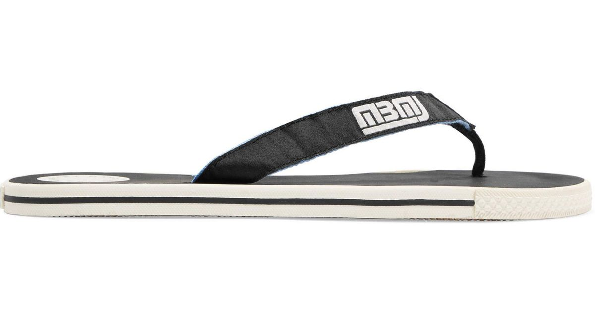 649248a14 Lyst - Marc By Marc Jacobs Canvas Flip Flops in Black