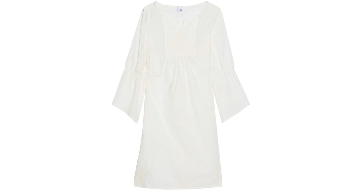 Iris & Ink Woman Wallace Gathered Embroidered Cotton-gauze Coverup Ivory Size 4 IRIS & INK Clearance Low Price Outlet Shopping Online Discount Big Discount Pay With Visa Cheap Online Free Shipping Cheapest shuqKp7