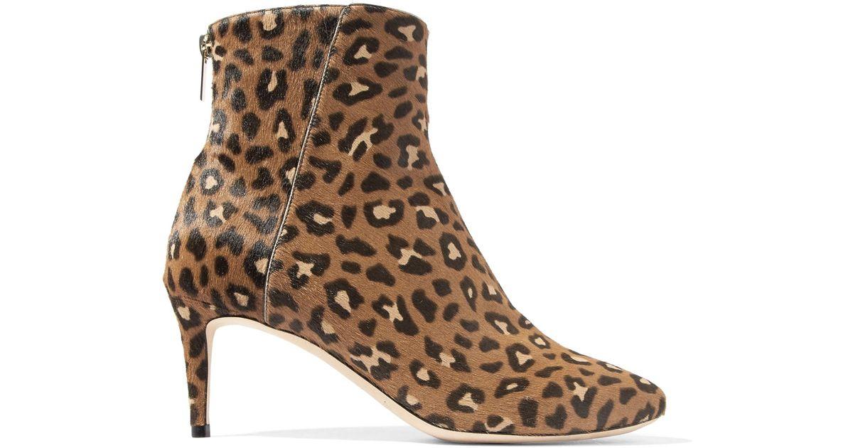 413bd4c0f73 Jimmy Choo Brown Duke Leopard-print Calf Hair Ankle Boots Animal Print