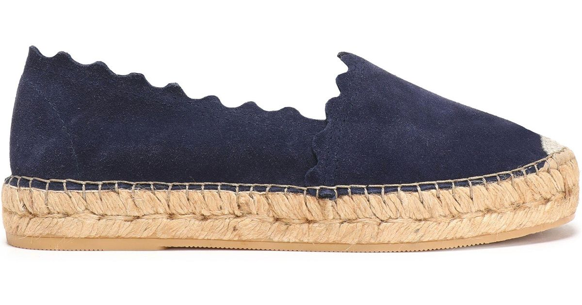 ccd61ab09e3 Iris & Ink Blue Hester Leather Espadrilles Navy