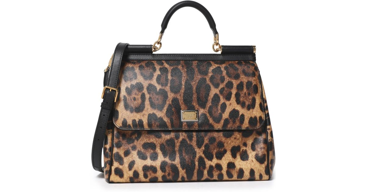 Lyst - Dolce   Gabbana Woman Miss Sicily Leopard-print Textured-leather  Shoulder Bag Animal Print 6ba6e676b009c