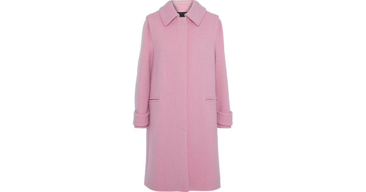 bcc5054ee Lyst - Maje Woman Brushed-wool Coat Baby Pink in Pink