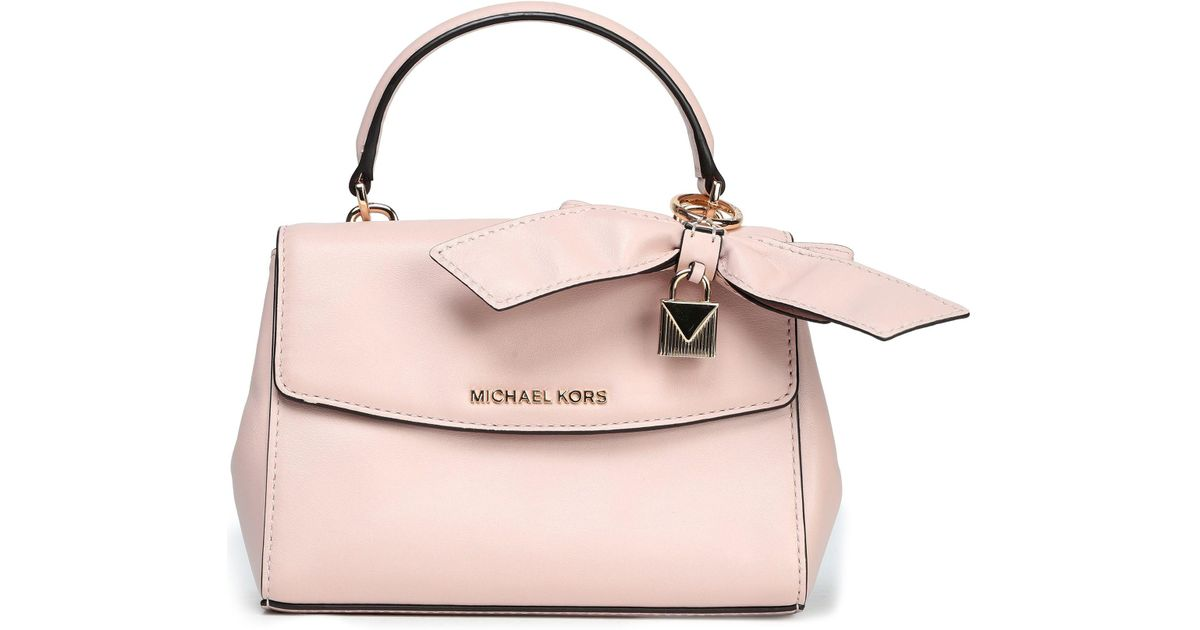 4a179c0959 MICHAEL Michael Kors Bow-embellished Leather Tote in Pink - Lyst