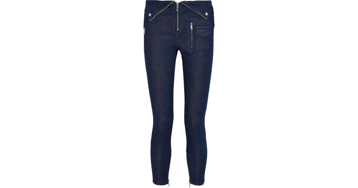 Rta Woman Distressed Mid-rise Skinny Jeans Gray Size L Rta Yqxli
