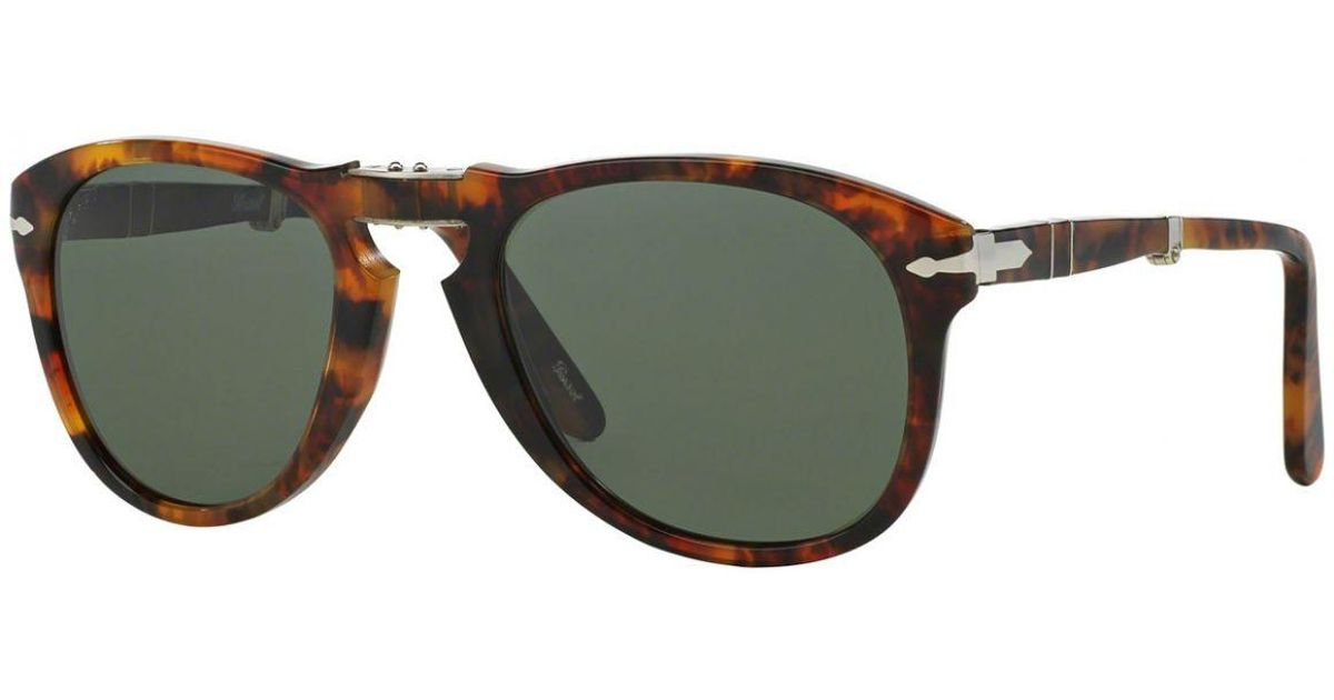 70c52f8791d16 Persol Icons Po0714 108 58 Caffe With Crystal Green Lenses Sunglasses in  Green for Men - Lyst