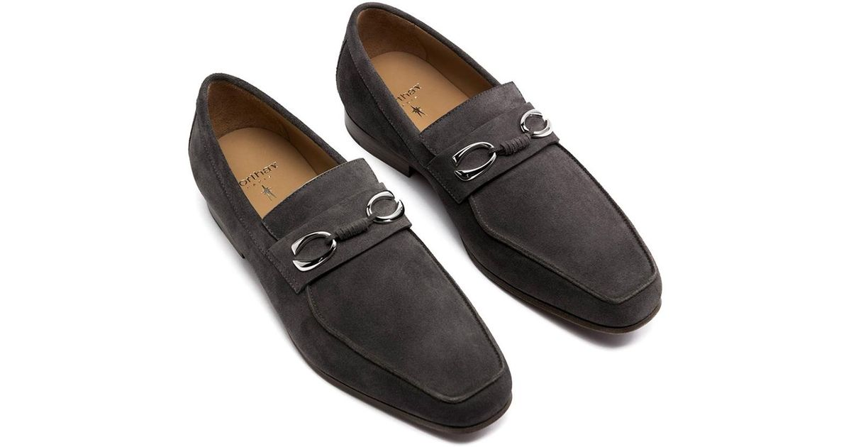 new styles 61ace 2a944 corthay-grey-Grey-Suede-Horse-Bit-Loafers.jpeg