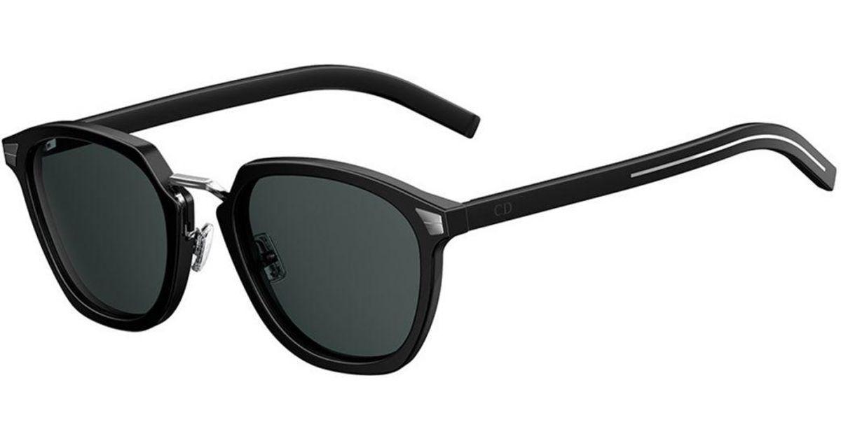 43c8030464c Dior Homme Black Frames With Black Lenses 807 ir in Black for Men - Lyst