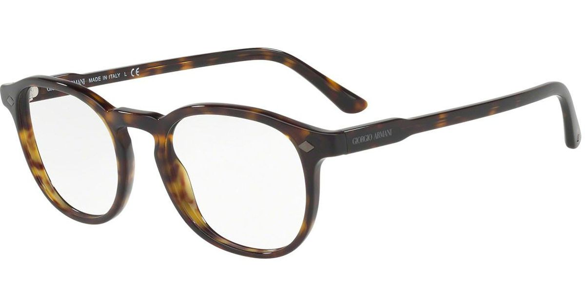 3af89f9b4819 Lyst - Giorgio Armani Black And Light Tortoiseshell Square Frames With Clear  Lenses Eyewear Ar7136 5026 in Black for Men