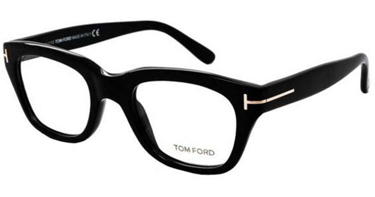 63a58e244f40 Tom Ford Black Square Frames With Clear Lenses Eyewear Ft5178 001 in Black  for Men - Lyst