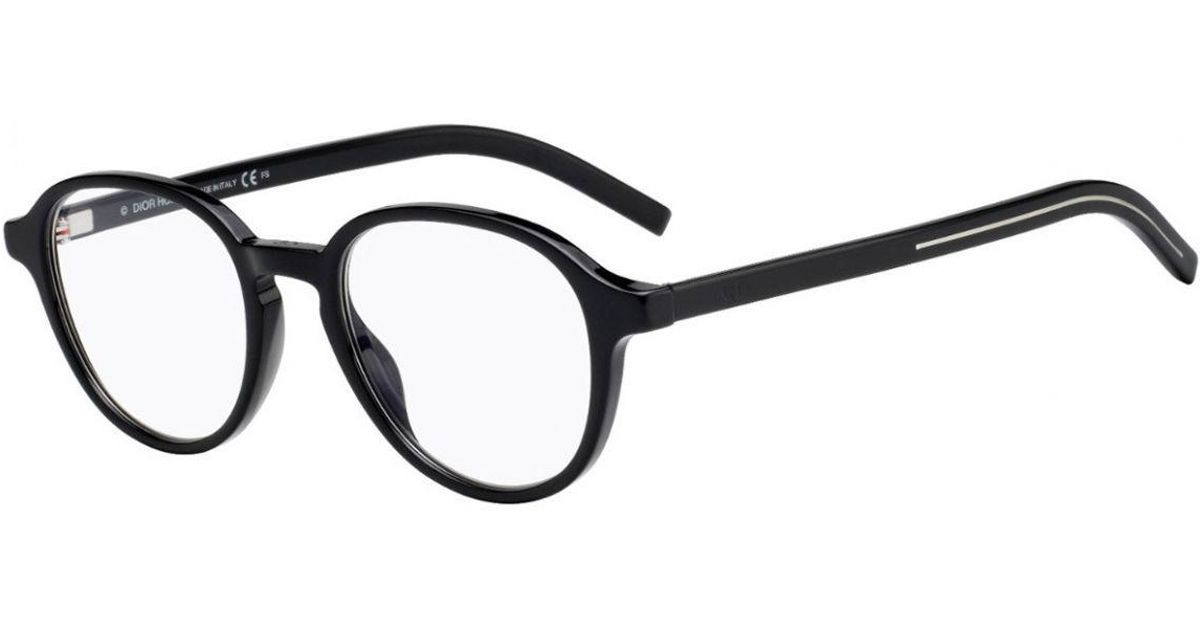 0ea7b738a60e Lyst - Dior Homme Black Tortoiseshell Round Frames With Clear Lenses Eyewear  240 582 in Black for Men