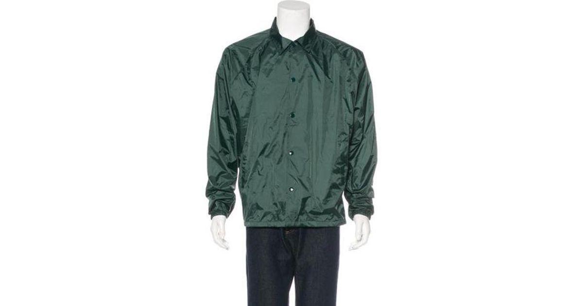 Lyst yeezy season 3 invitation coaches jacket green in metallic lyst yeezy season 3 invitation coaches jacket green in metallic for men stopboris Images