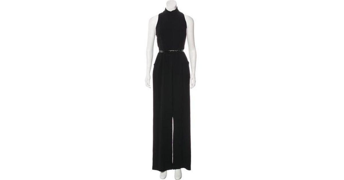 14788faa8f Lyst - Theia Sleeveless Crepe Jumpsuit in Black