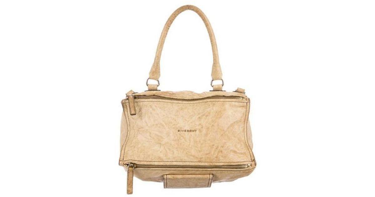 f07f90a543 Lyst - Givenchy Medium Pandora Bag Beige in Metallic
