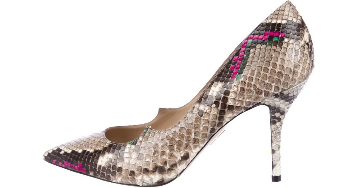 sneakernews sale online cheap sale order Paul Andrew Snakeskin Pointed-Toe Pumps PeW2Ag