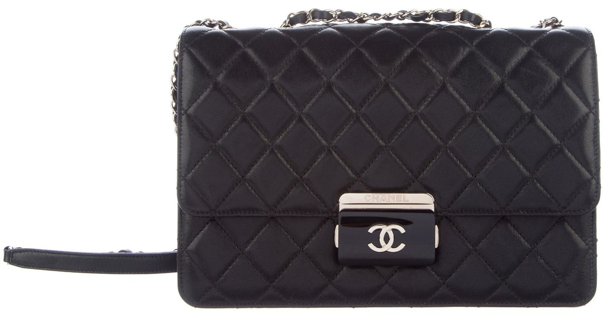 f8e721442cc5 Lyst - Chanel 2017 Large Beauty Lock Flap Bag Black in Metallic