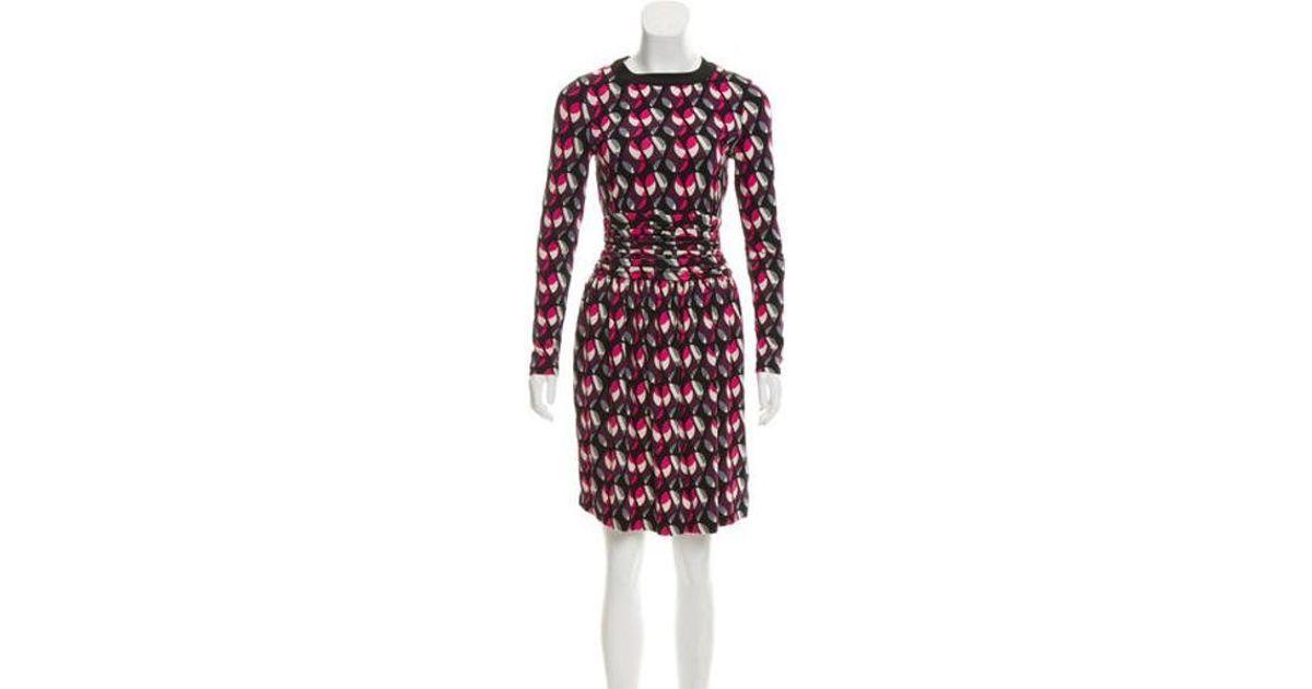 97d0b9f889 Lyst - M Missoni Printed Knee-length Dress in Pink