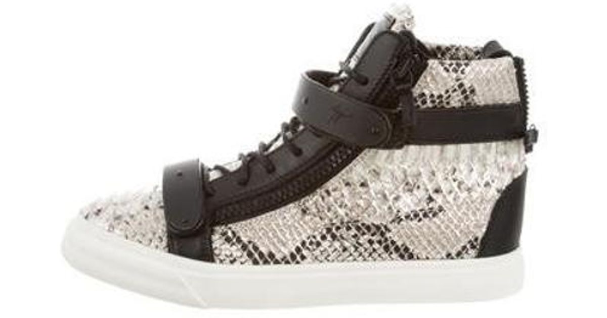 62f98d1e41e8a Lyst - Giuseppe Zanotti Round-toe High-top Sneakers W/ Tags Beige in  Metallic for Men