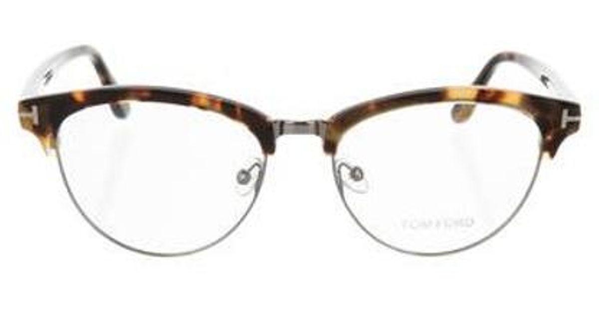 8344d7f3b9 Lyst - Tom Ford Tortoiseshell Cat-eye Eyeglasses in Brown