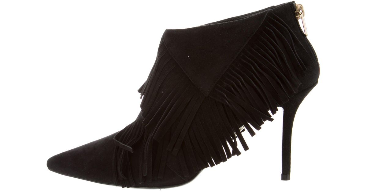 low shipping sale online Roger Vivier Pointed-Toe Fringe Booties w/ Tags clearance low shipping fee o72zxc