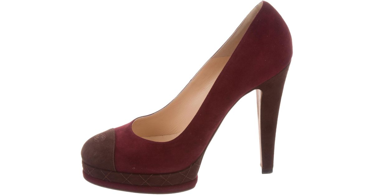 888fe8be00 Lyst - Chanel Cc Platform Pumps W/ Tags Burgundy in Red