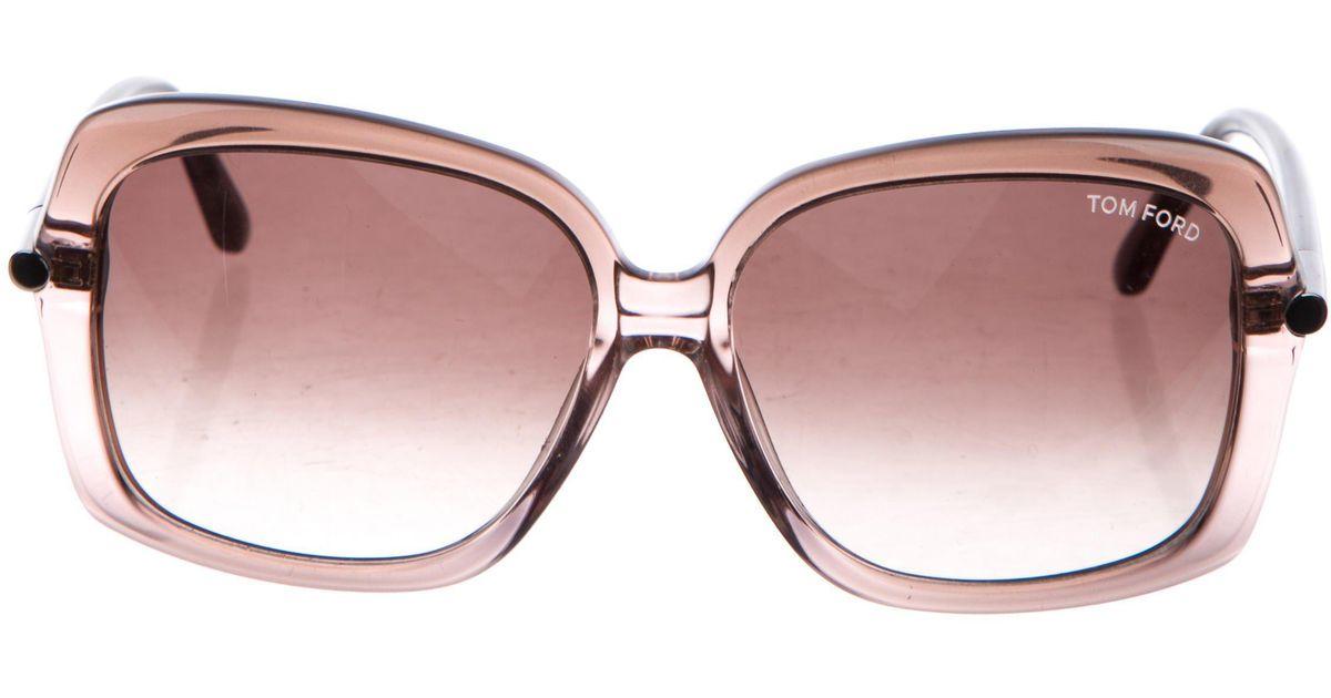 fad75a8a20fe5 Lyst - Tom Ford Square Paloma Sunglasses in Purple