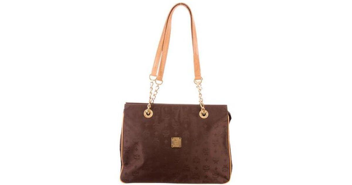 f1b13ea5fc Lyst - Mcm Vintage Visetos Shoulder Bag Brown in Metallic