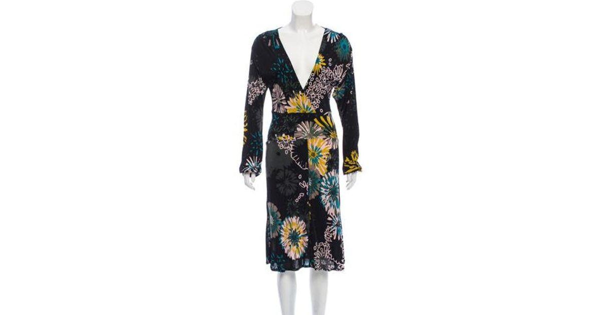 a5fed64821 Lyst - M Missoni Long Sleeve Midi Dress W  Tags in Black