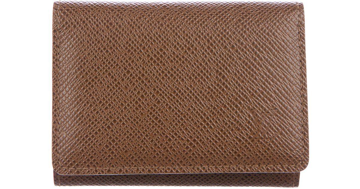 77baa92207d9 Lyst - Louis Vuitton Taïga Business Card Holder Brown in Brown for Men