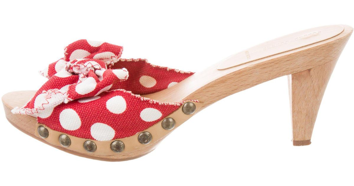 Miu Miu Polka Dot Slide Sandals clearance new arrival U0HTuj2sC