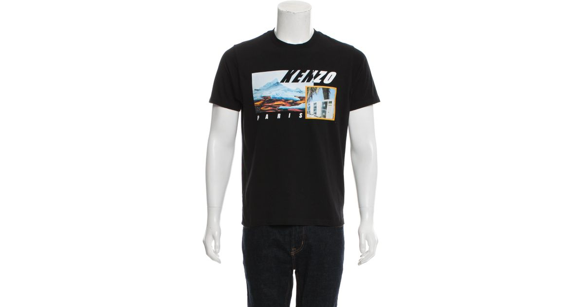 20cd619ba6 KENZO - Black Collage Graphic T-shirt for Men - Lyst
