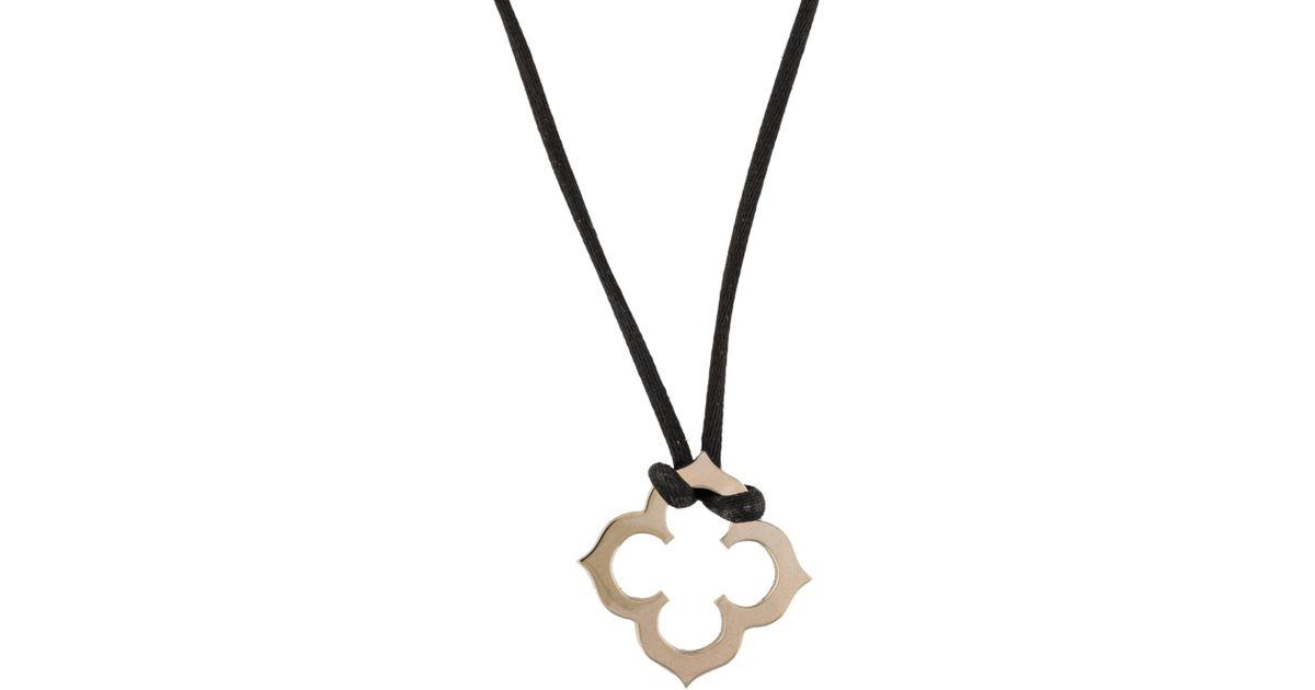 Lyst cartier quatrefoil pendant necklace white in metallic aloadofball Choice Image