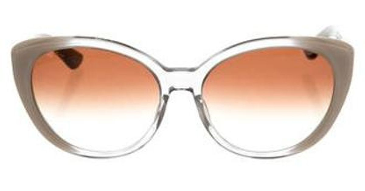 0d7bacd322e8 Lyst - Dita Amant Round Sunglasses Clear in White