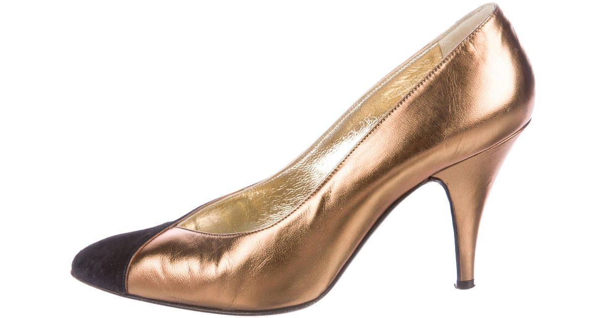 how much comfortable cheap online Walter Steiger Colorblock Round-Toe Pumps E4frflGQFW