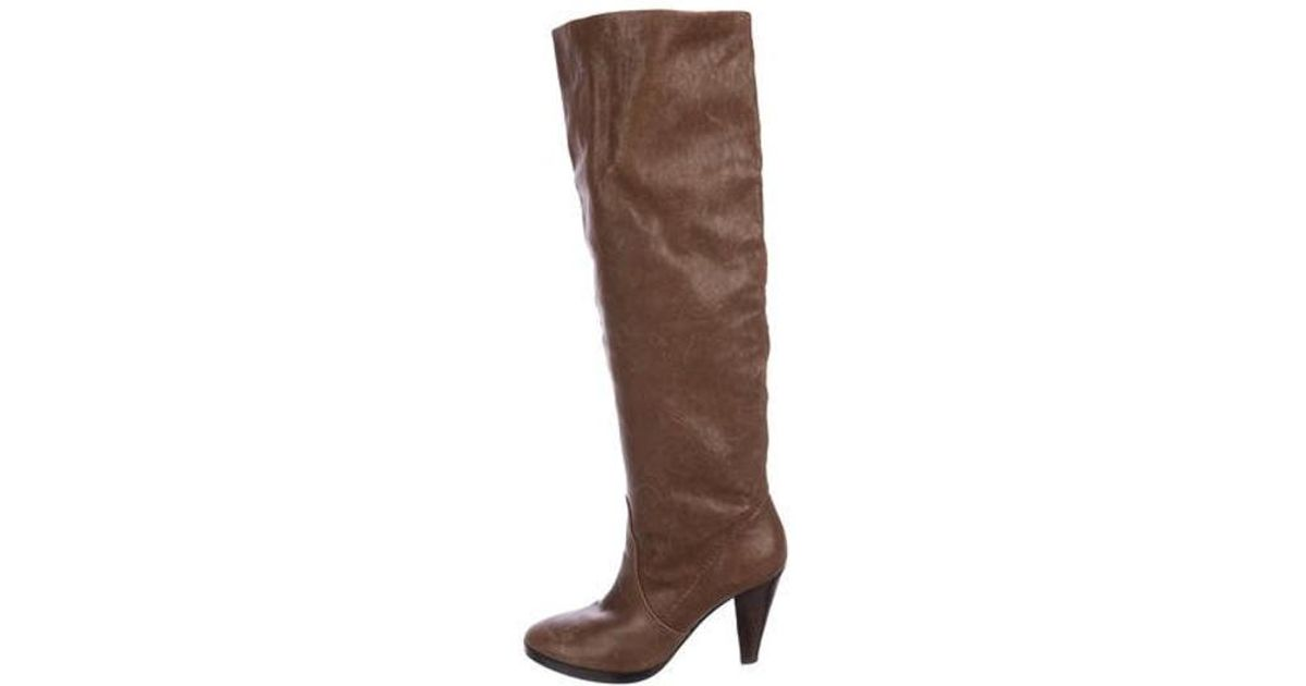 e4ae5288741 Lyst - Michael Kors Leather Knee-length Boots in Brown