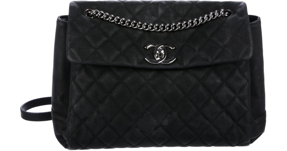 ae2c36b3a9ca Lyst - Chanel Lady Pearly Flap Bag Black in Metallic