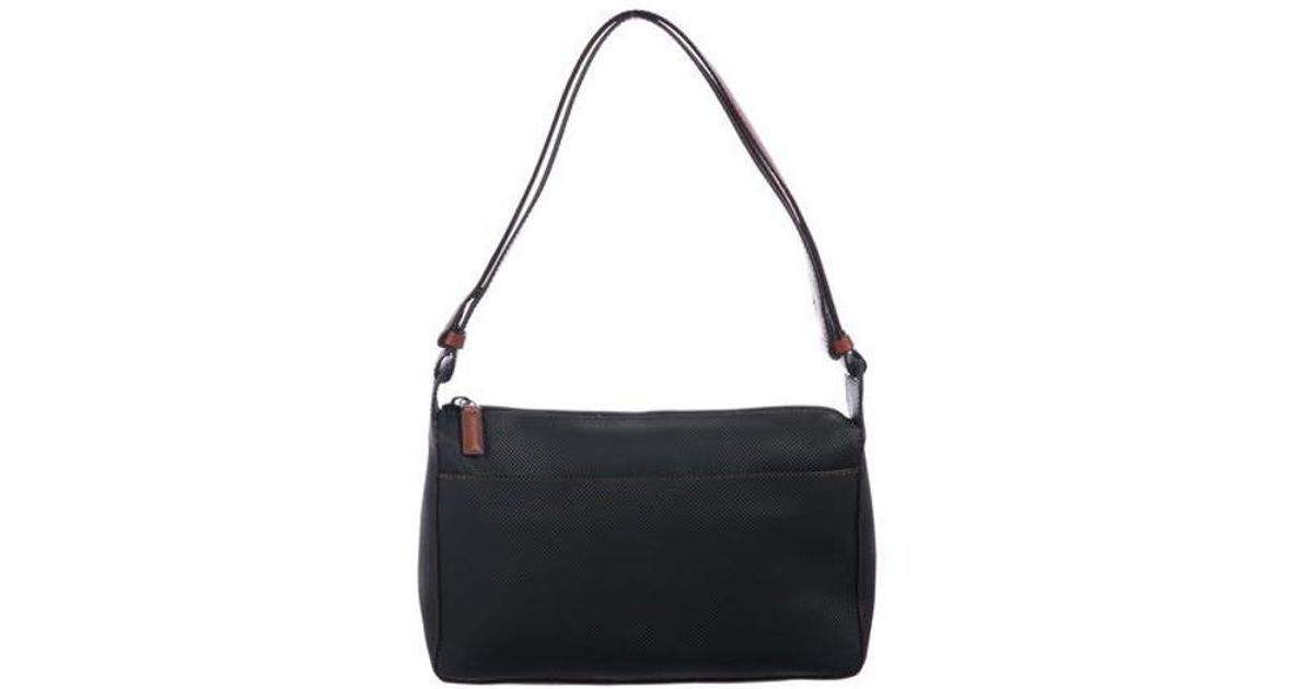 03316c533d Lyst - Bottega Veneta Marco Polo Canvas Shoulder Bag Navy in Metallic