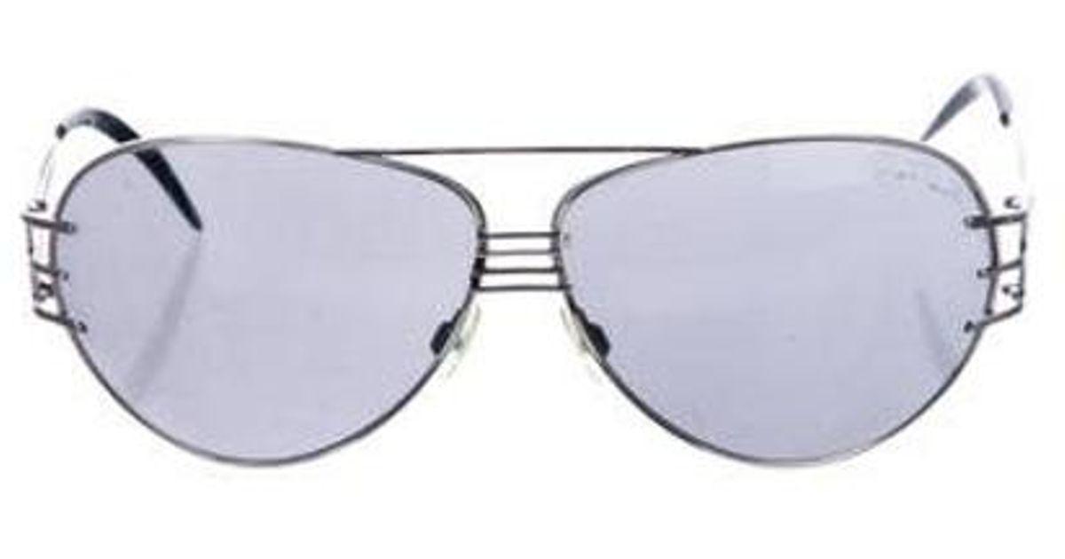 37b27888a42 Lyst - Roberto Cavalli Tinted Aviator Sunglasses Silver in Metallic