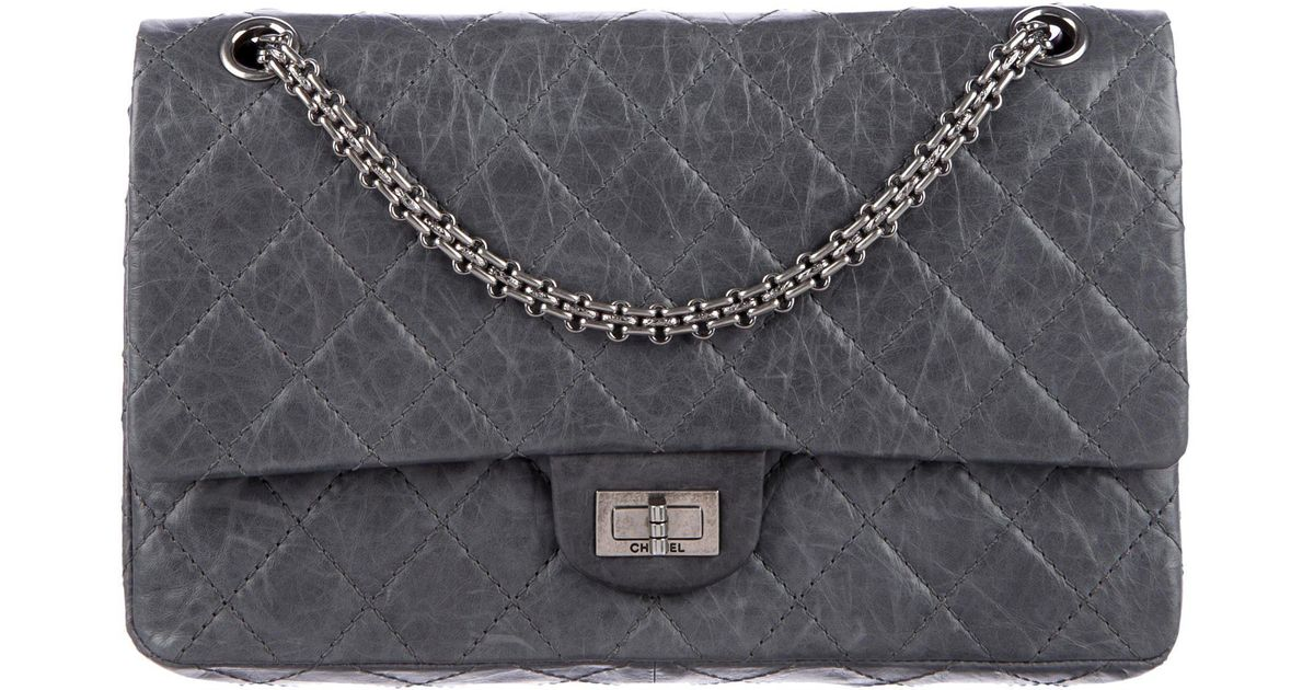 f6e17616446a91 Lyst - Chanel Reissue 226 Double Flap Bag Grey in Gray
