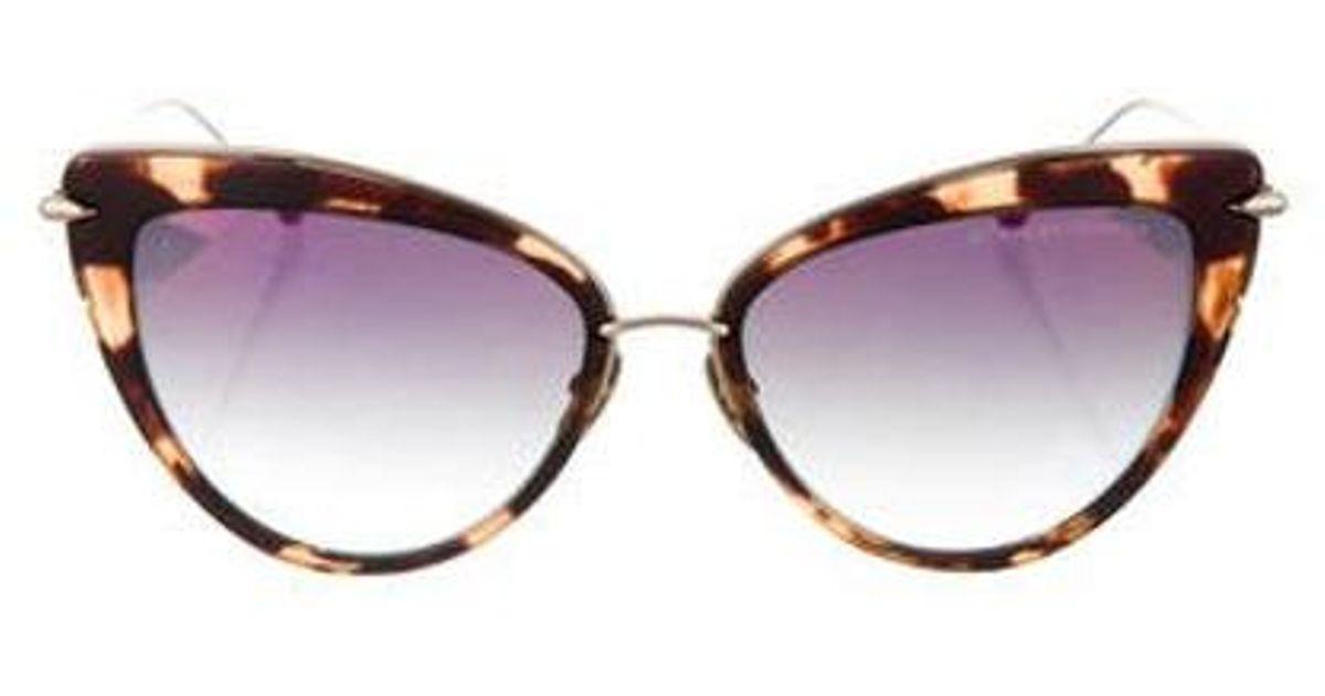 e93d3e3b6d4d Lyst - Dita Heartbreaker Cat-eye Sunglasses in Brown