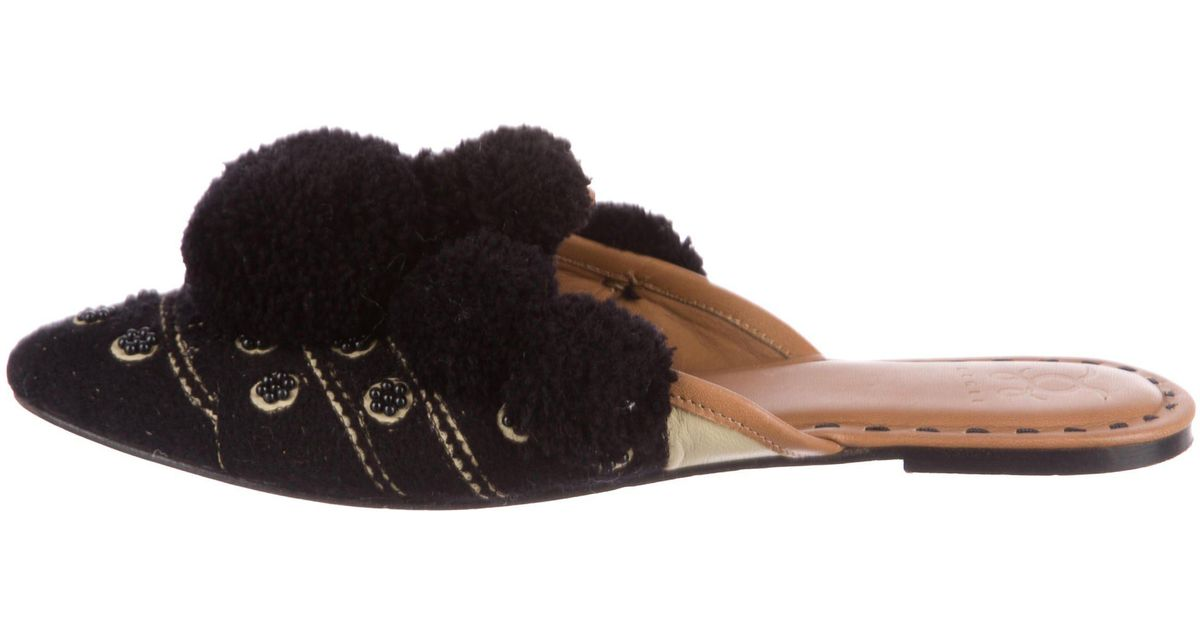 Figue Embellished Round-Toe Mules low price for sale 16TBnFH95a