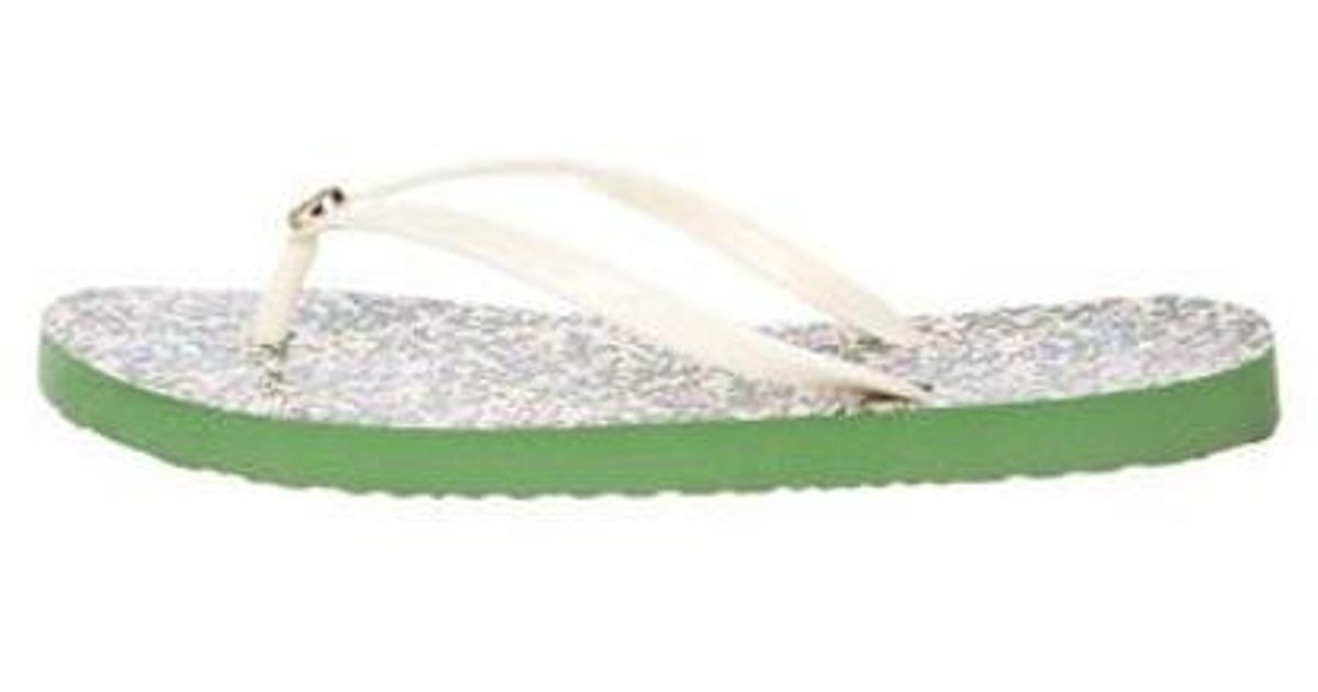 da812b065308d3 Lyst - Tory Burch Logo Thong Sandals in White