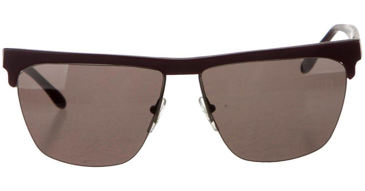 4132cd0dc7d Lyst - Prism Havana Rimless Sunglasses W  Tags Purple in Metallic